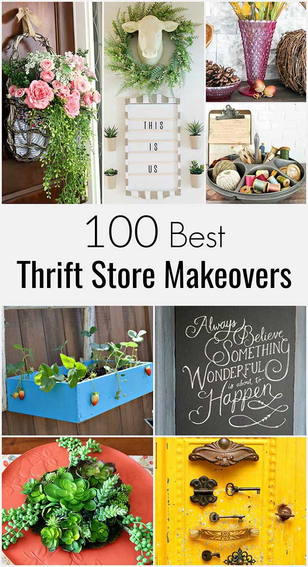 Be inspired by the BEST home decorating ideas on a budget with these thrift store makeovers from TOP DIY bloggers! #thriftstoremakeover #thriftstorefinds #thrifting #diyhomedecor #diyprojects