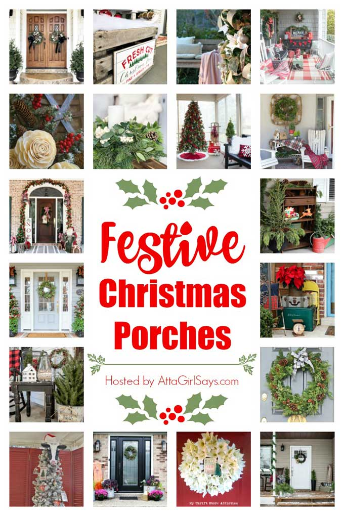 18 Festive Christmas porches to inspire you!