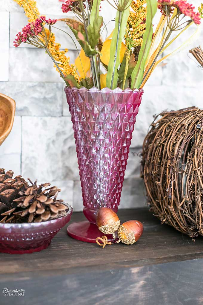 Repurposing thrift store glass vases