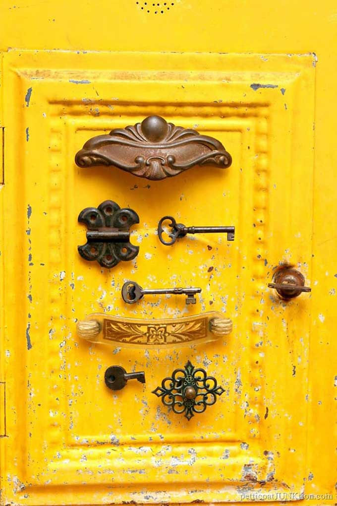 Repurposing junk items into fun refrigerator magnets
