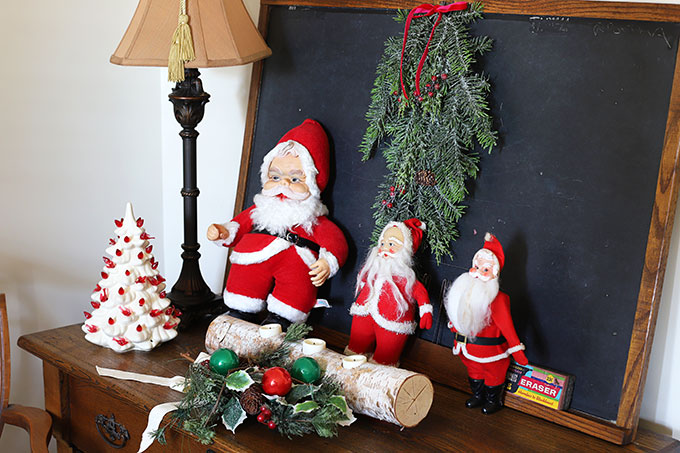 Vintage Rushton Santa and friends