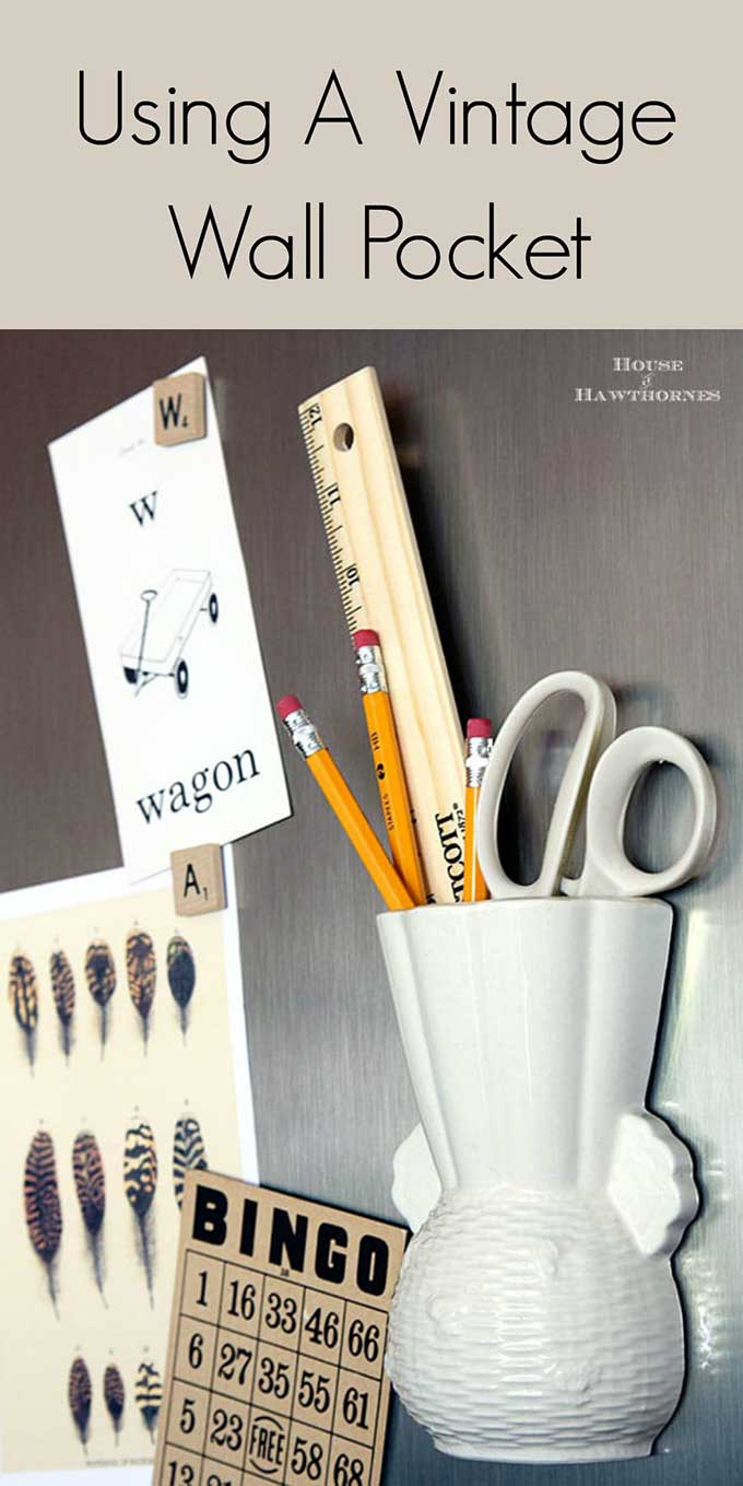 Vintage wall pockets were all the rage in home decor in the LAST century, but now you can use them as a trendy wall pocket organizer or wall pocket vase.