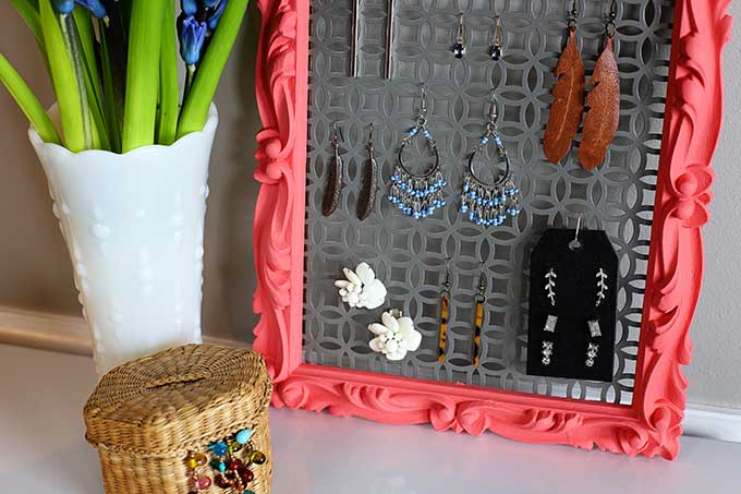 DIY earring holder for studs