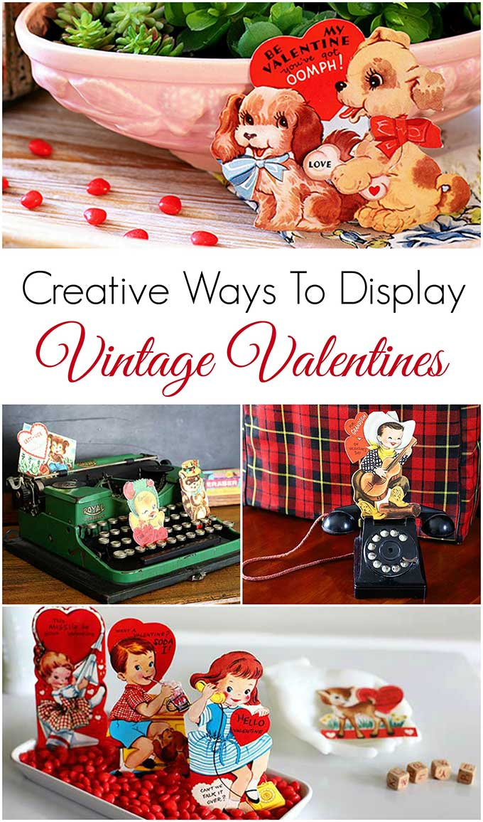 Creative ways to display your vintage valentine collection!