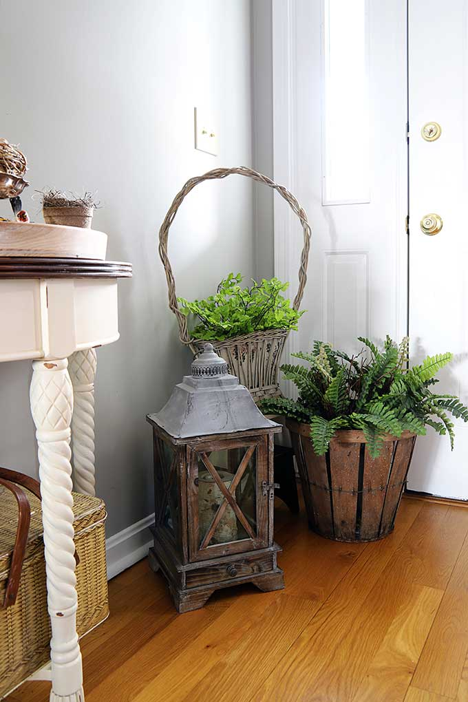 Baskets in entryway