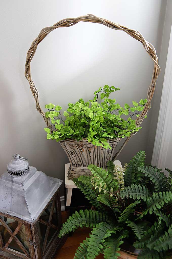 Vintage funeral basket