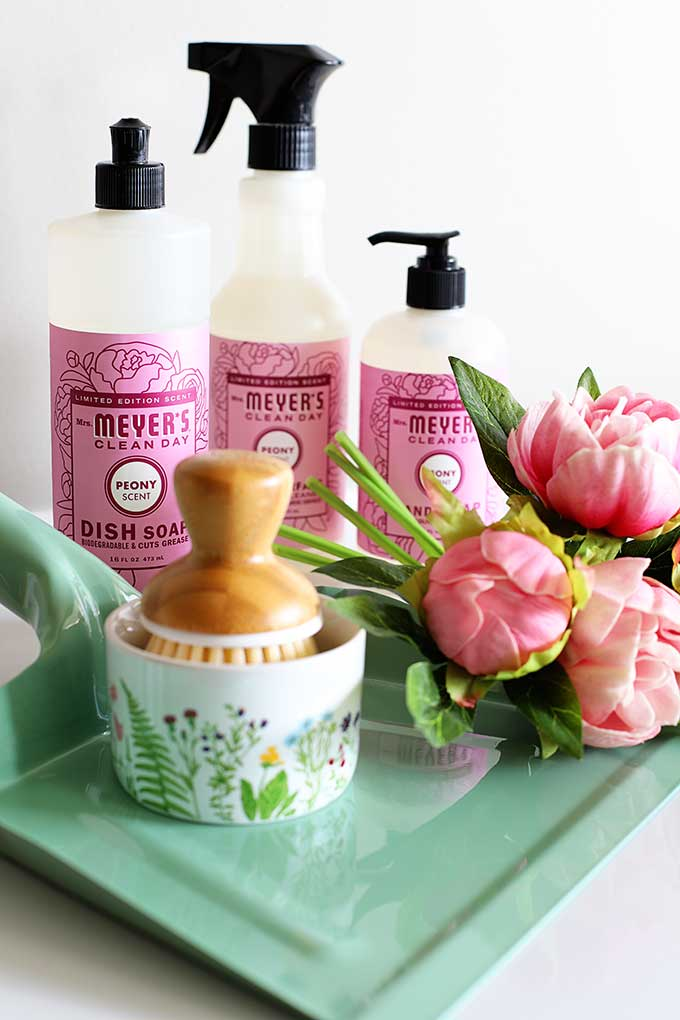 Mrs Meyer's hand soap, dish soap and multi-surface cleaner - free spring cleaning set