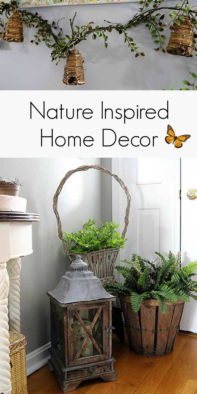 Spring decor doesn't have to be all about brightly colored flowers and pastel eggs, learn how to have a muted nature inspired look for your spring decor!