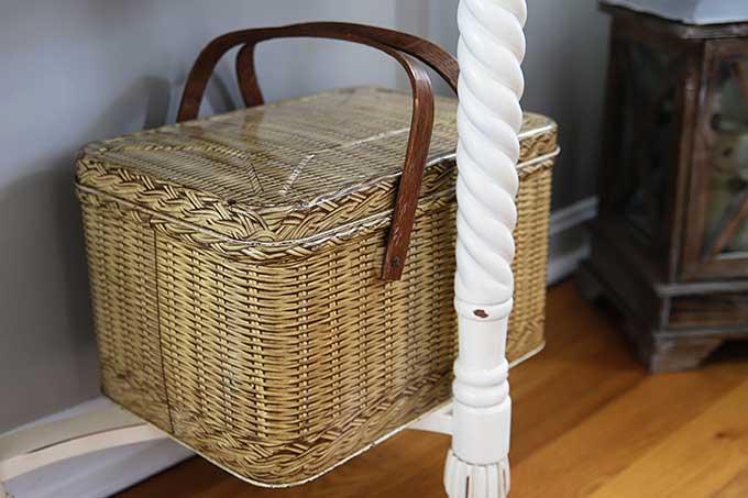 Vintage Decoware tin picnic basket