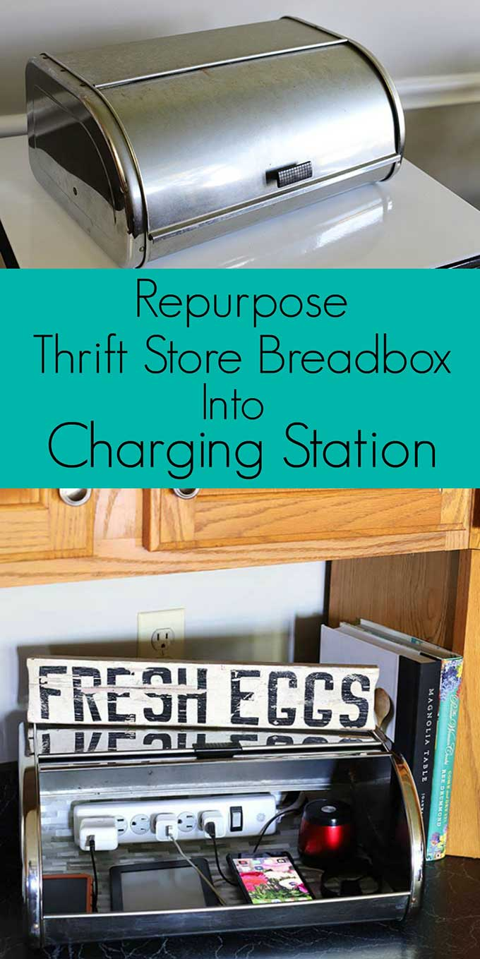 DIY charging station organizer