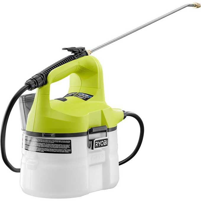 Battery operated garden sprayer