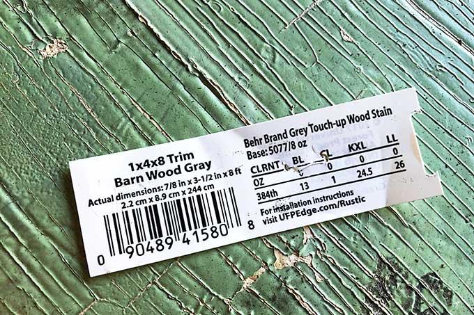 Barn wood gray 1x4x8 trim