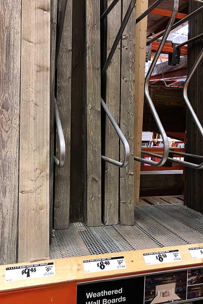 Barn wood at Home Depot