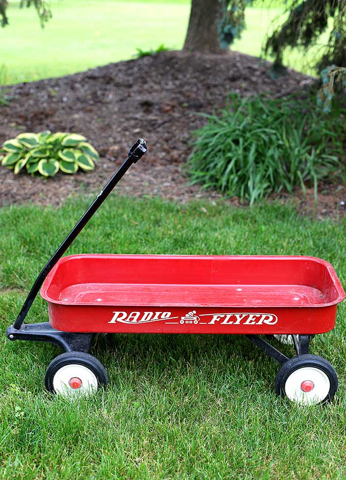 Radio Flyer little red wagon upcycle project