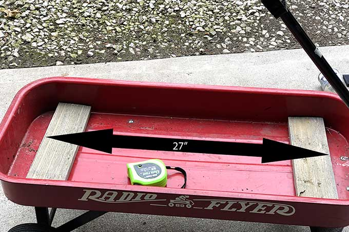 Radio Flyer wagon repurposed