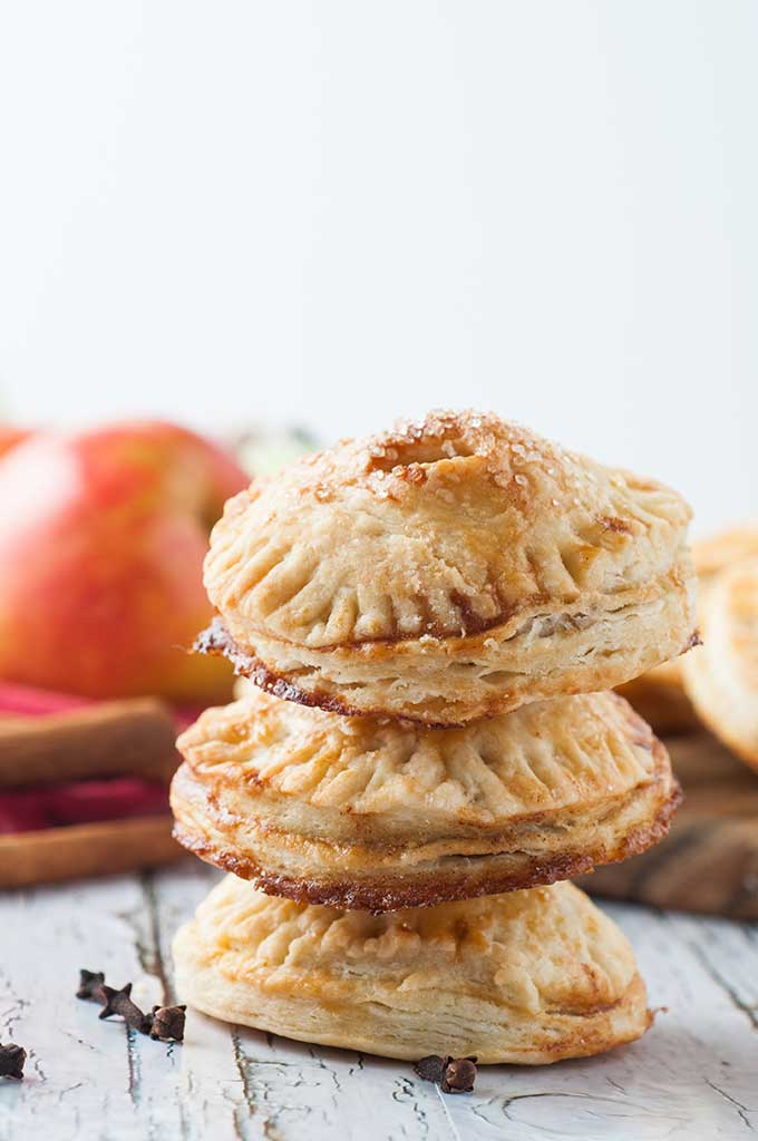 stacked apple hand pies