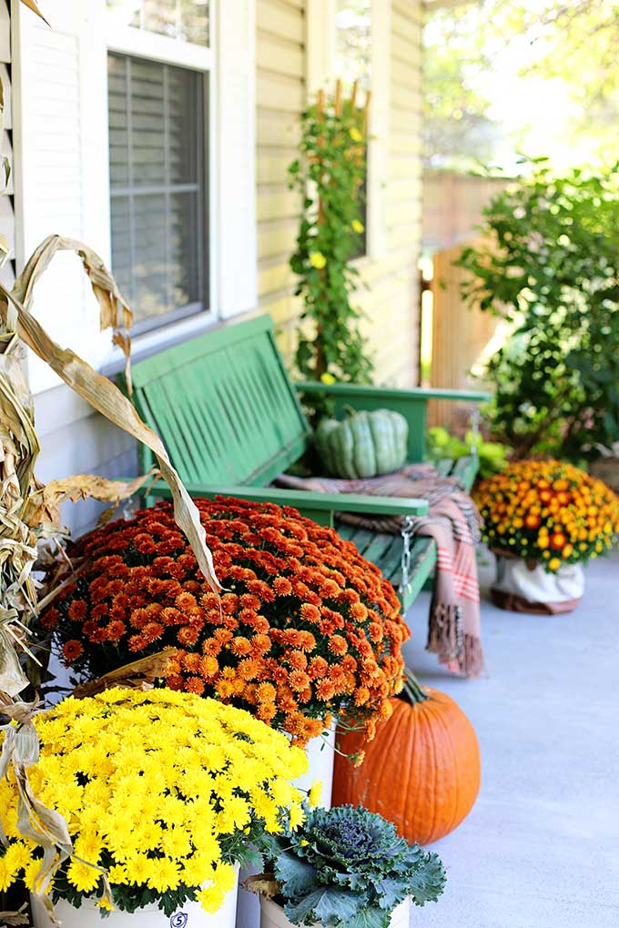 Rustic and natural fall porch
