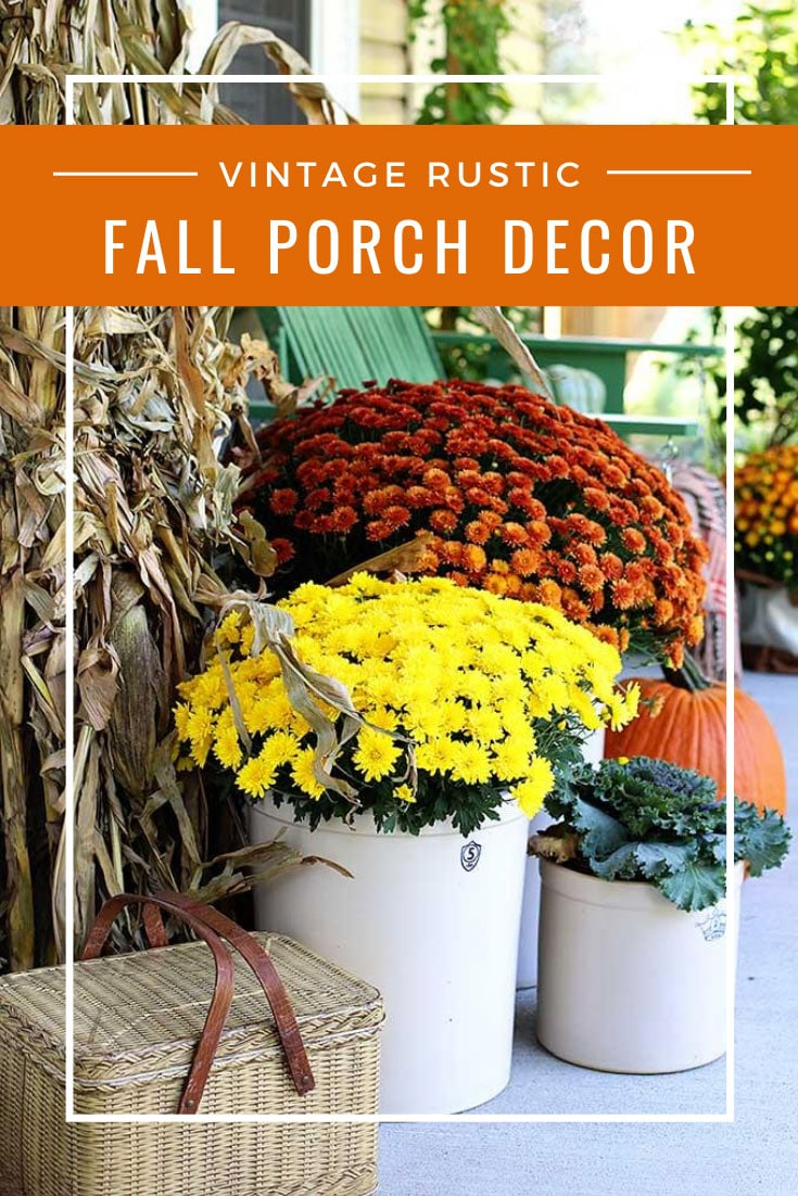 rustic natural fall porch decor