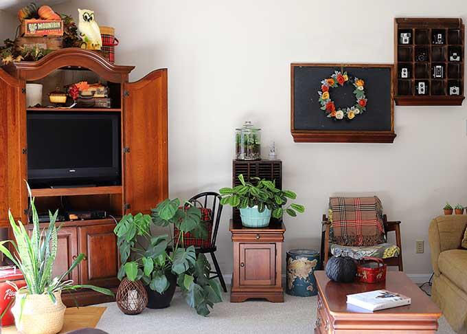 Fall home decor flea market style
