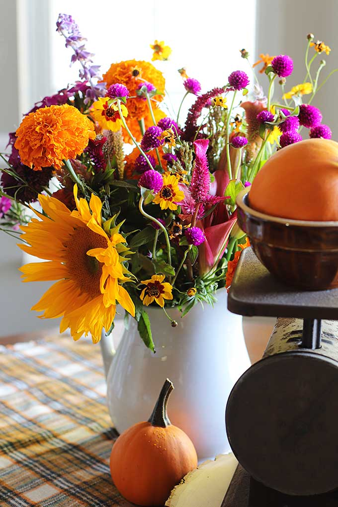 Fall home decor using thrift store finds
