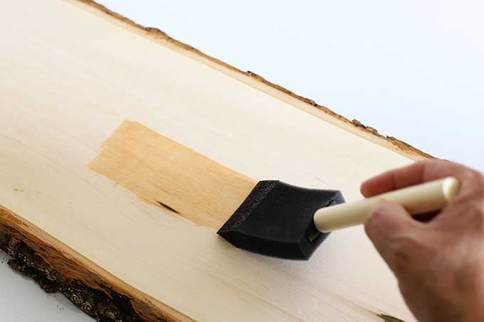 Staining basswood planks for crafts