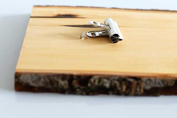 wood postcard display idea
