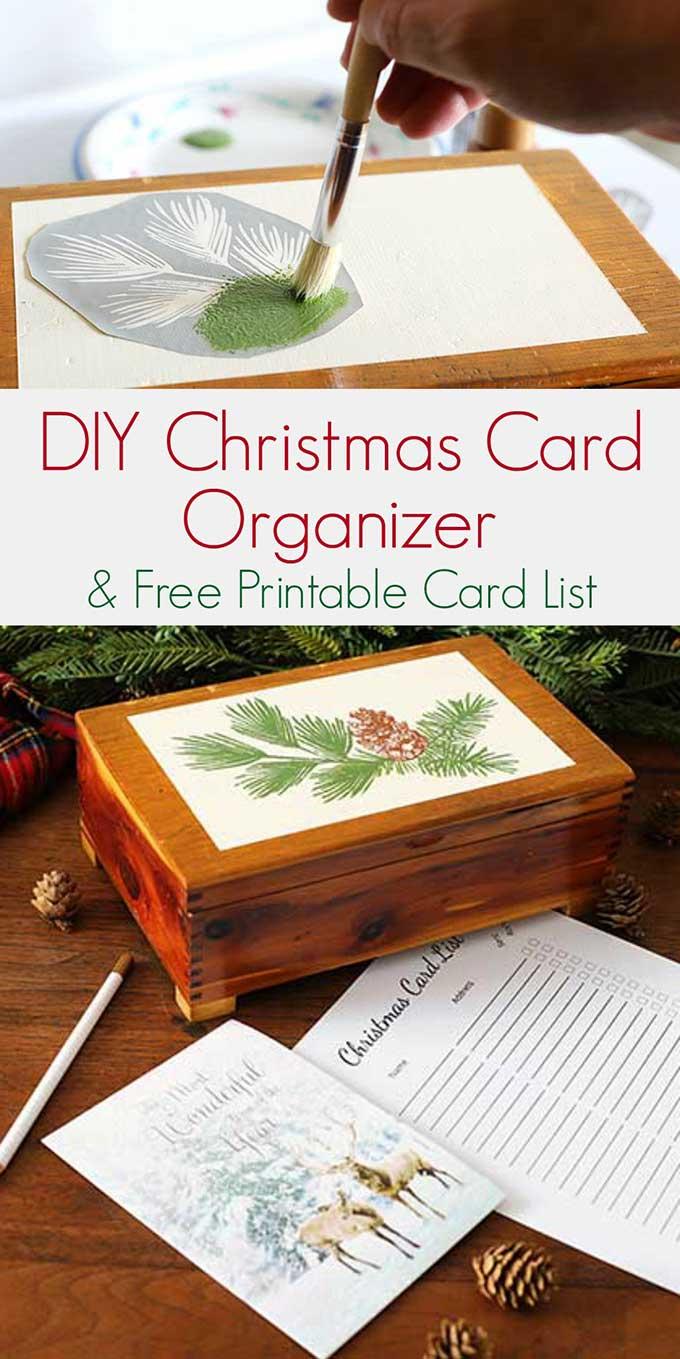 Christmas Card Organizer and FREE Printable Christmas Card List