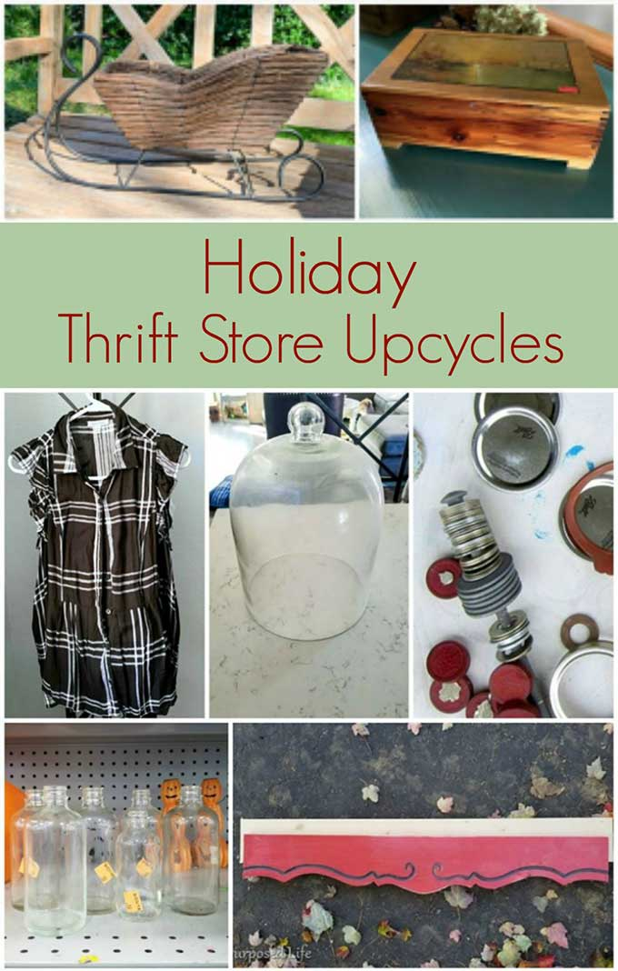 thrift store upcycles for Christmas