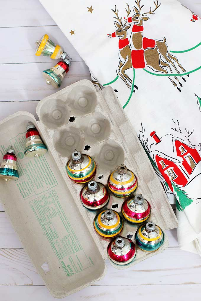 Ways to store vintage Christmas ornaments
