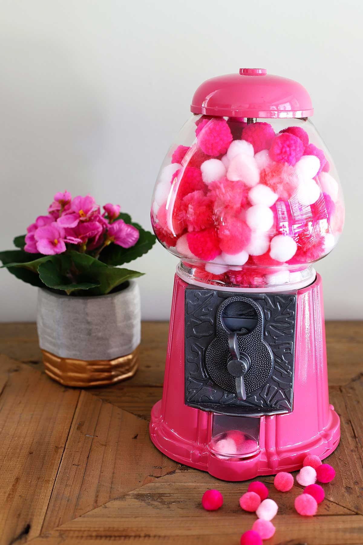 pink gumball machine - a thrift store upcycle