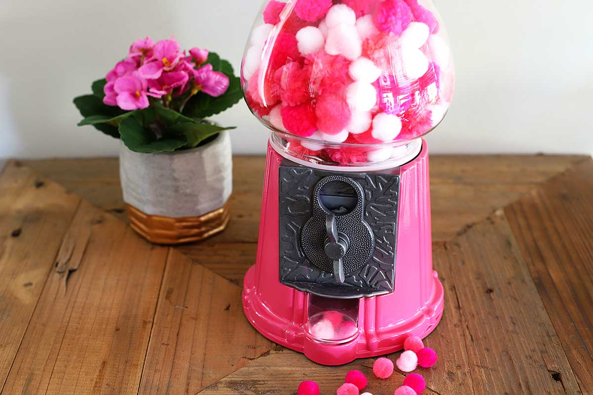 pink gumball machine DIY project
