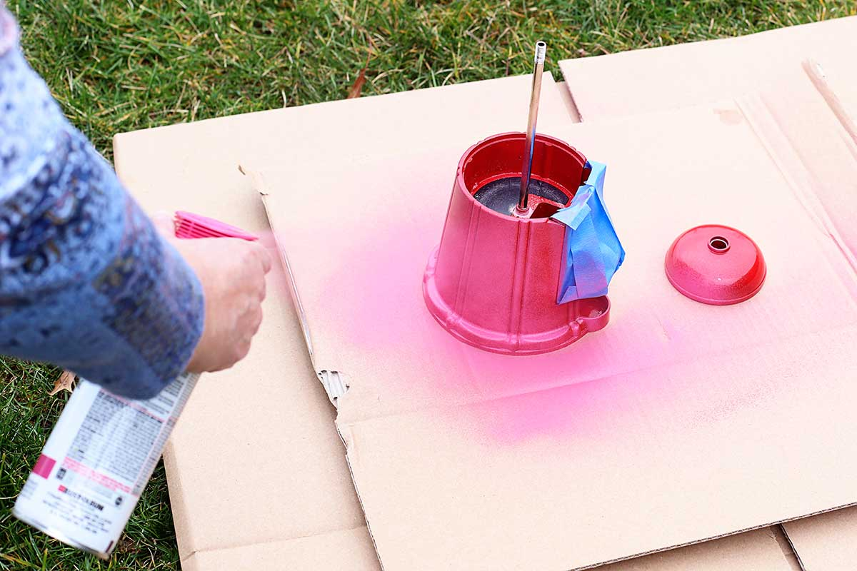 spray painting gumball machine