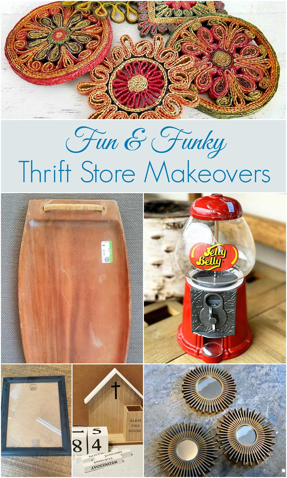 thrift store upcycle projects