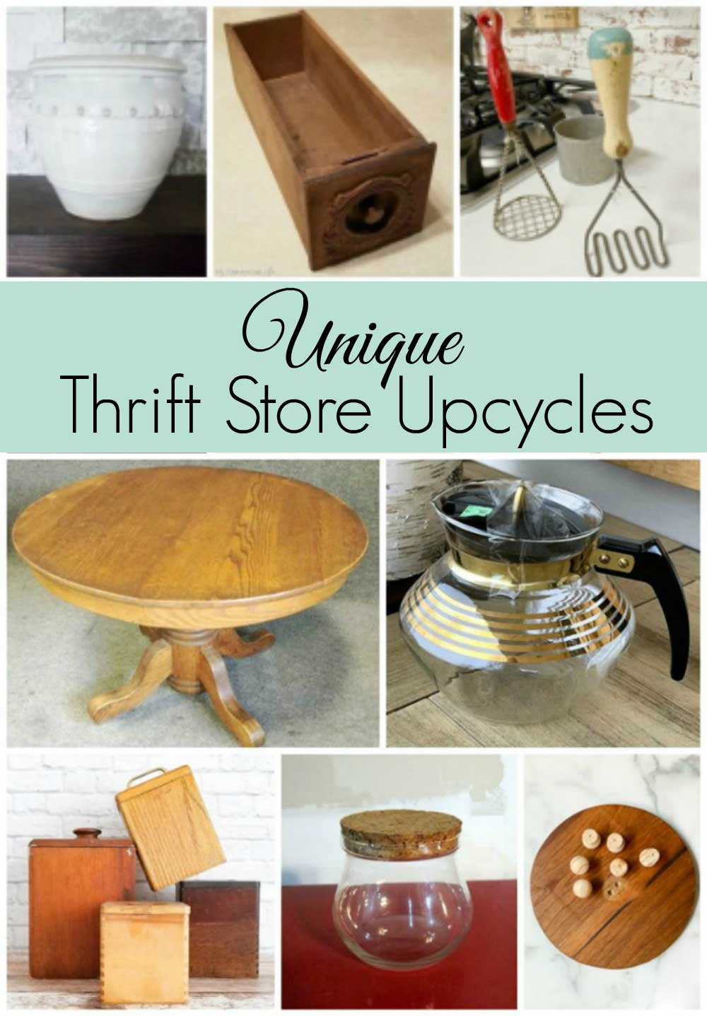 Thrift store home decor upcycling projects