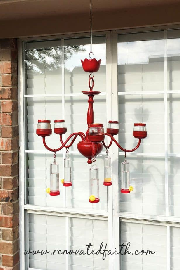 DIY hummingbird feeder