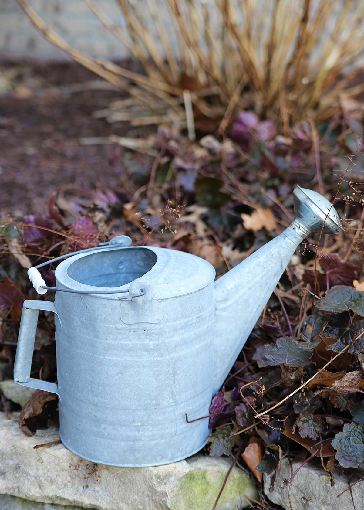 repurposing galvanized watering can