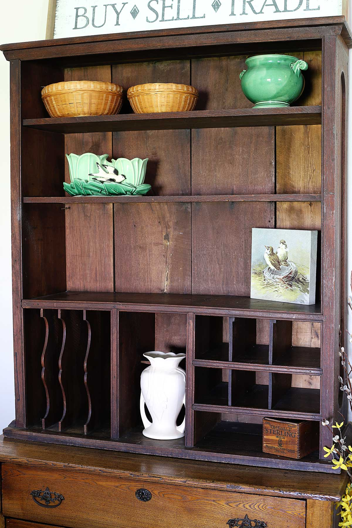 using filler pieces on the bookcase