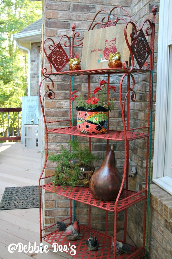 painted outdoor garden stand