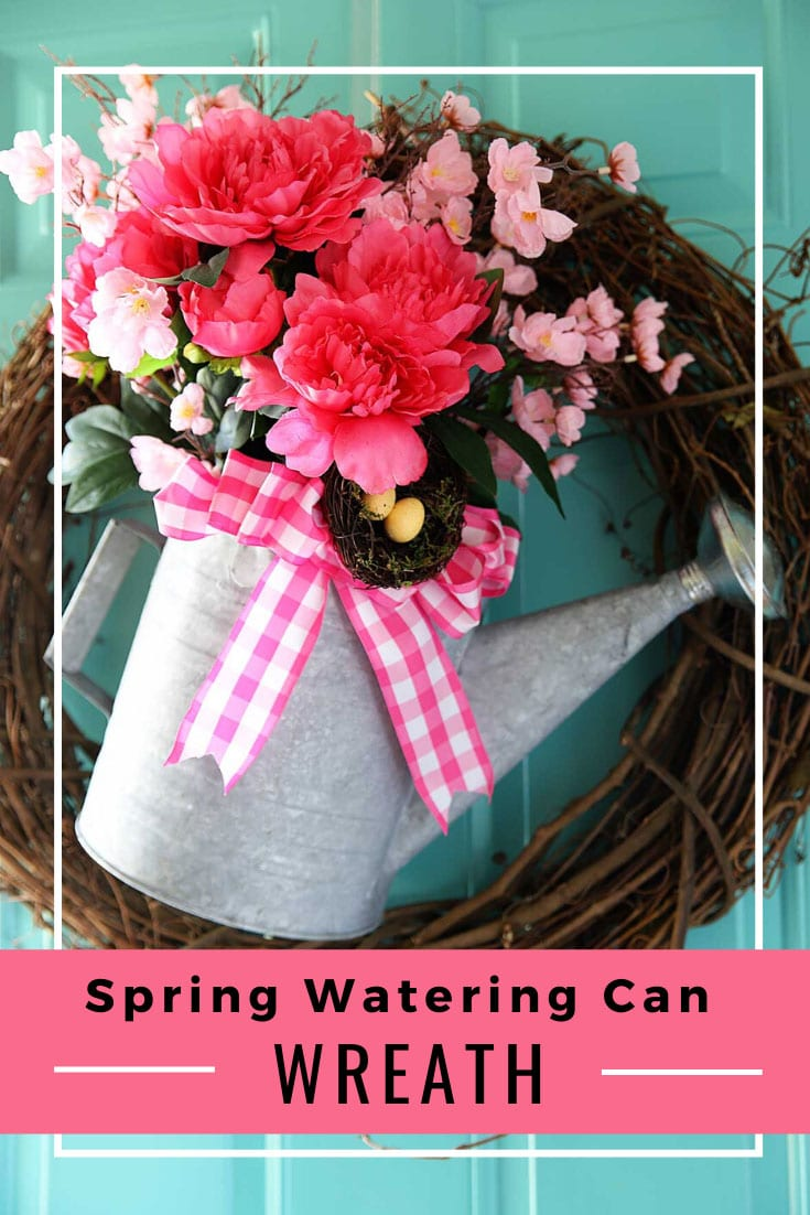Watering Can Wreath DIY