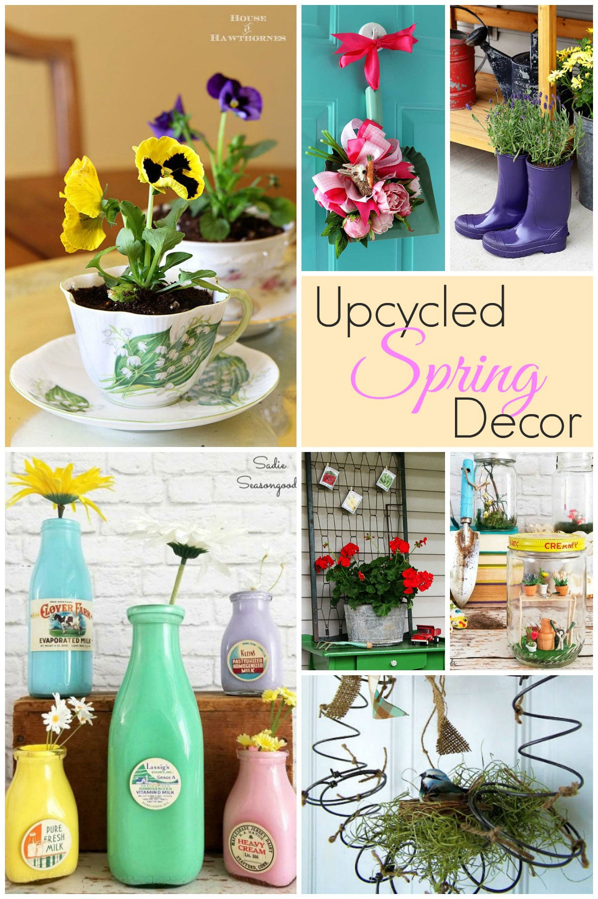 Upcycled spring home decor ideas