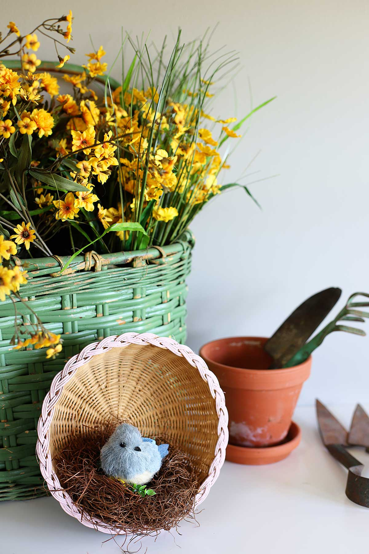 Simple thrift store basket repurpose