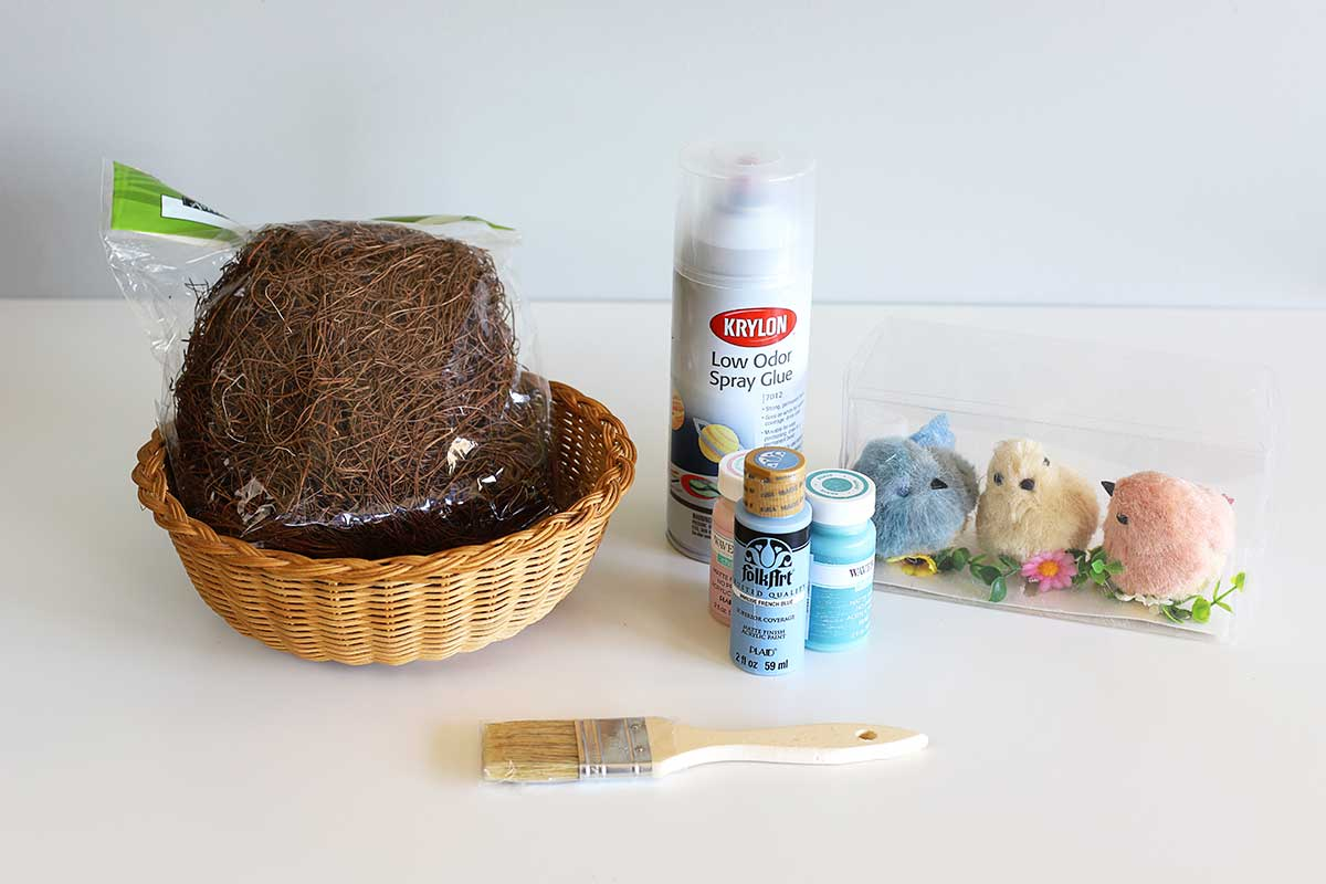 supplies for DIY bird nest