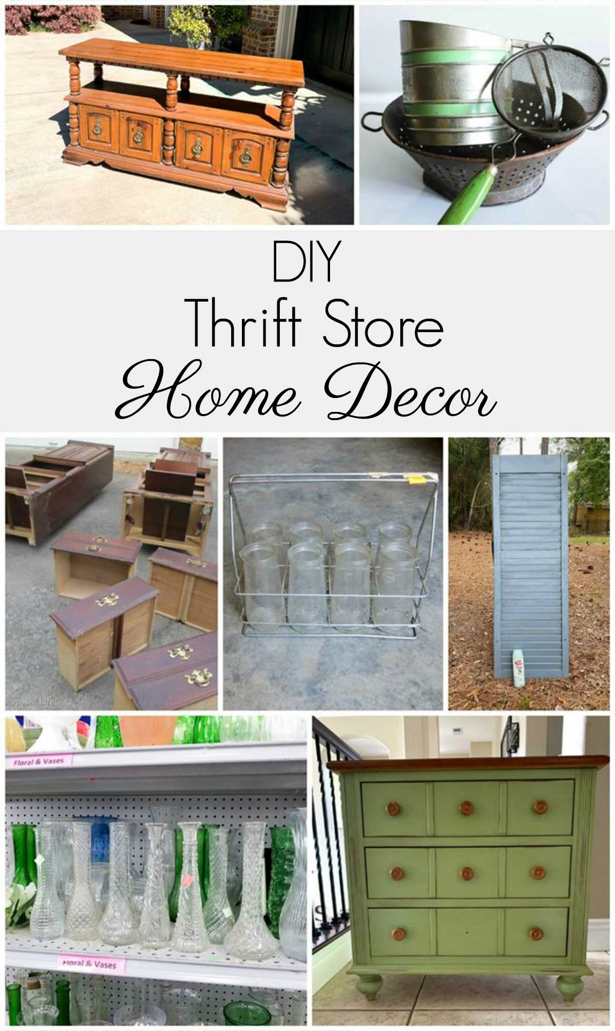 DIY thrift store home decor ideas