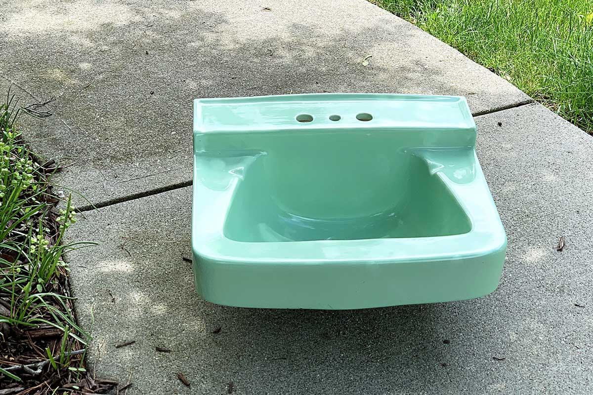 jadeite green vintage sink