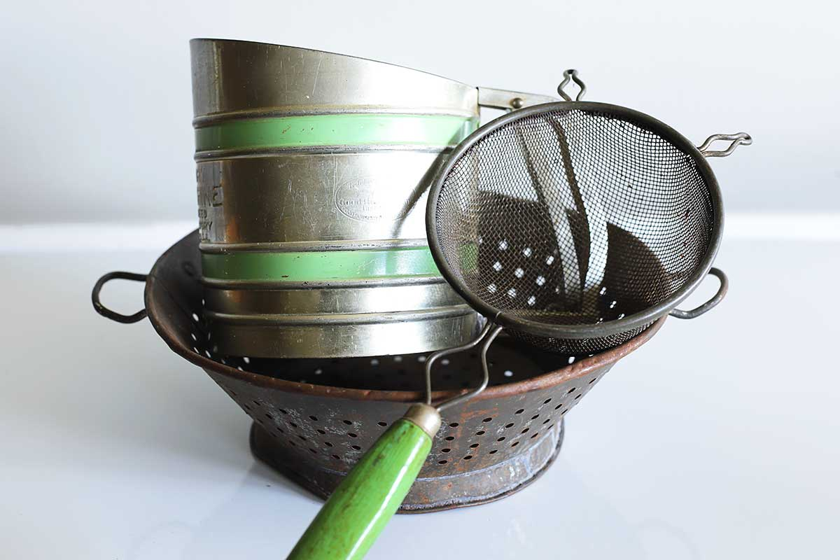 repurposing kitchen tools in the garden