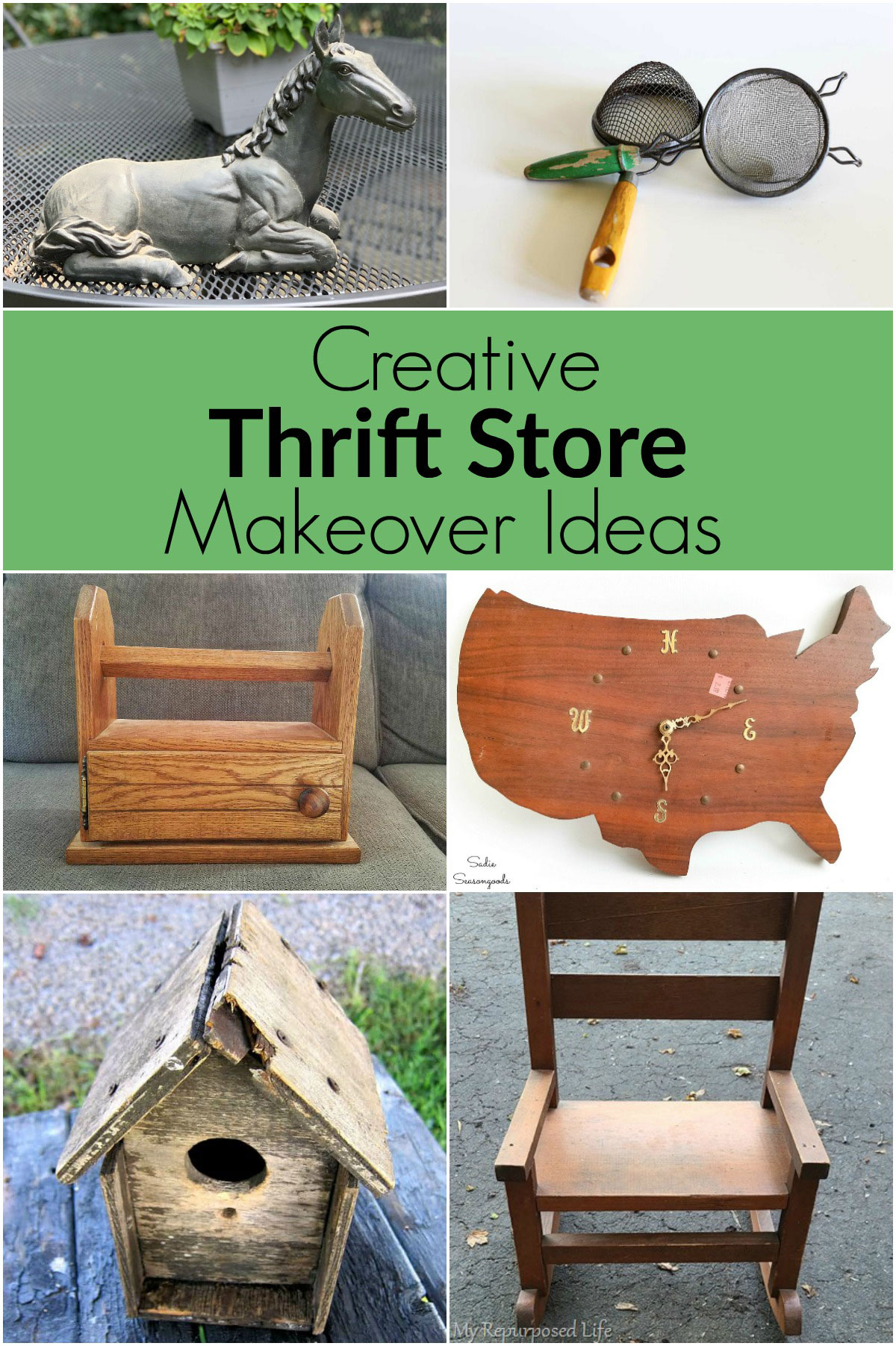 Creative ways to makeover thrift store finds