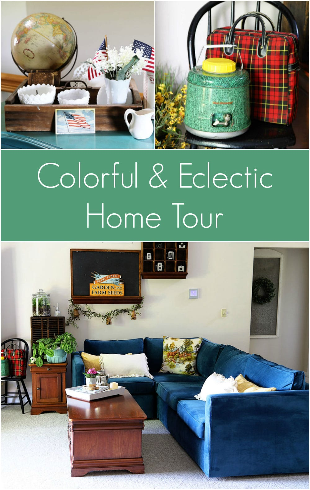 colorful and eclectic home tour