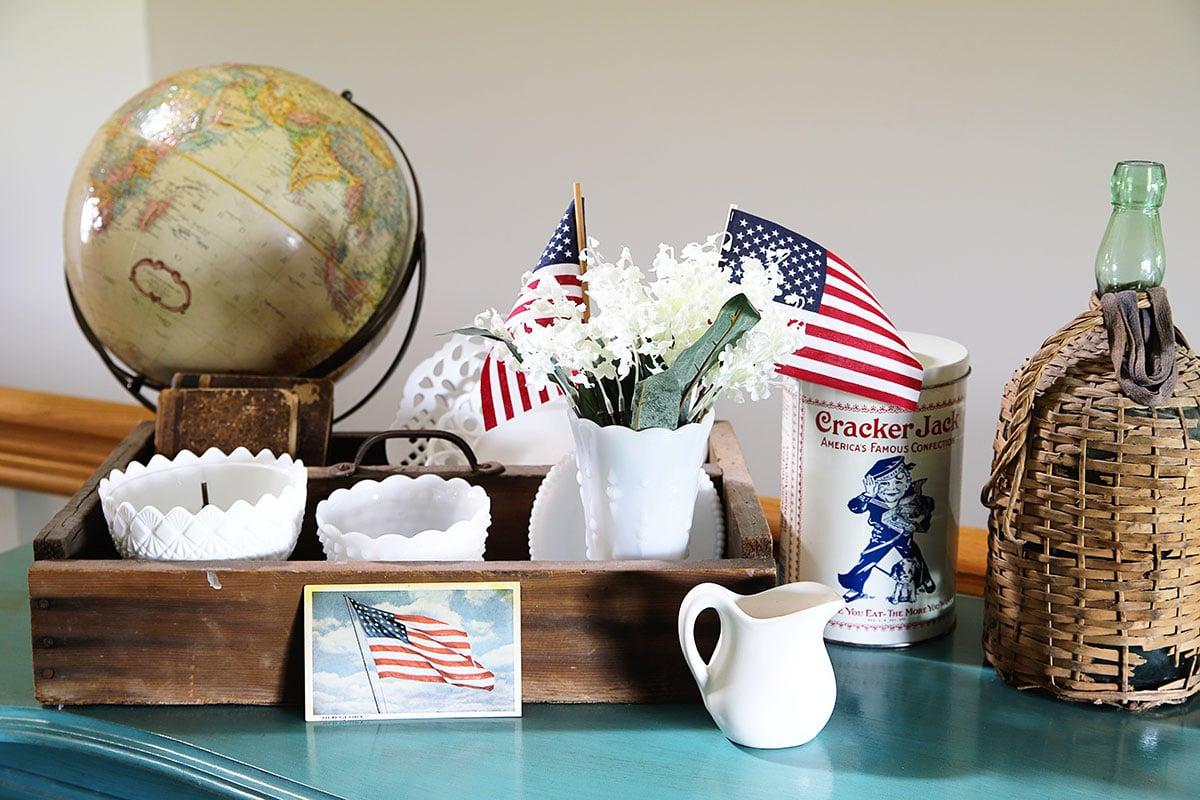 patriotic living room decor