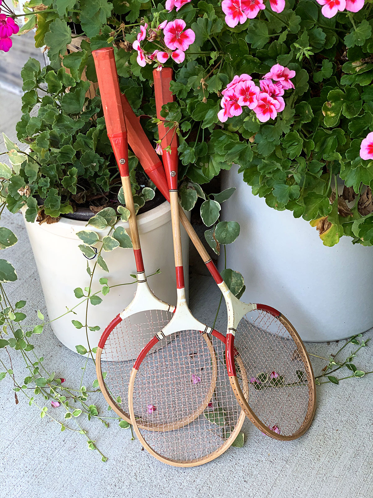 vintage badminton rackets