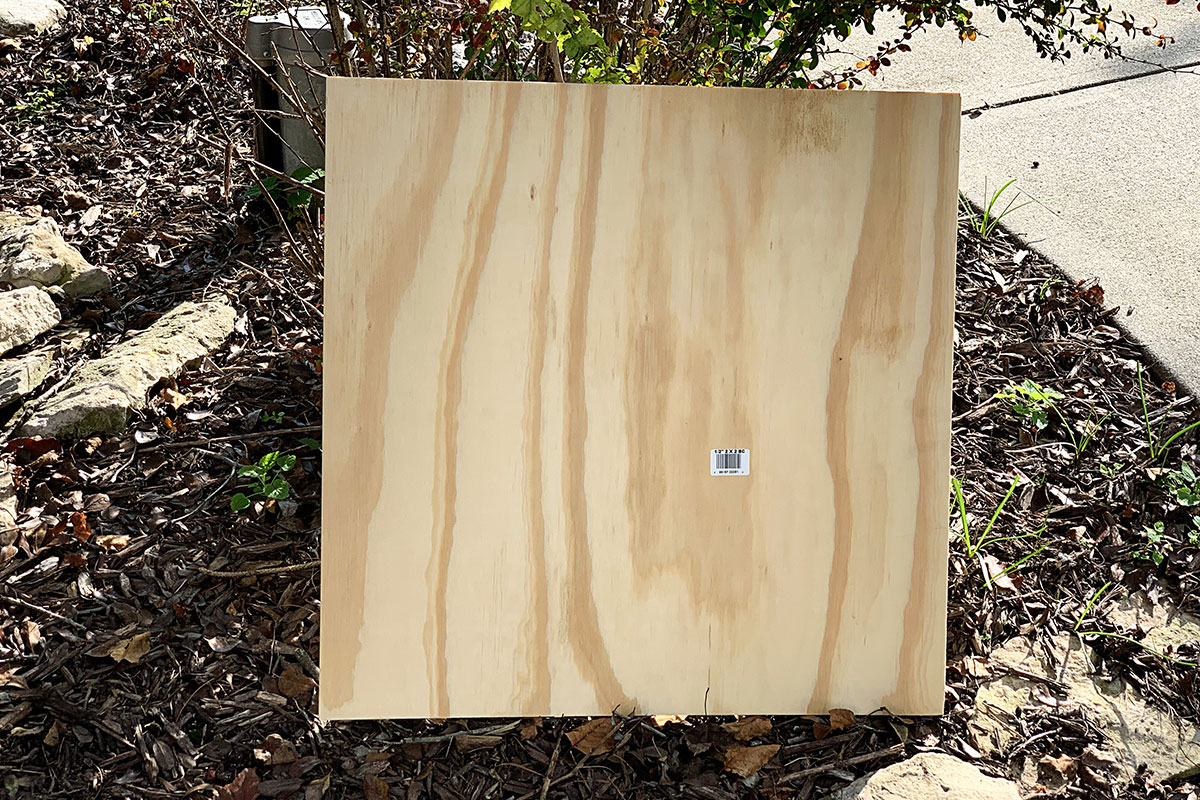 sheet of 2 x 2 square plywood for crafts